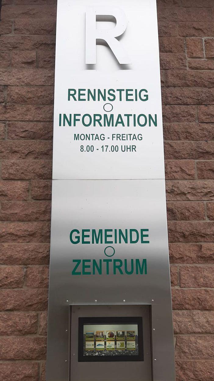 Terminal an der Rennsteiginformation