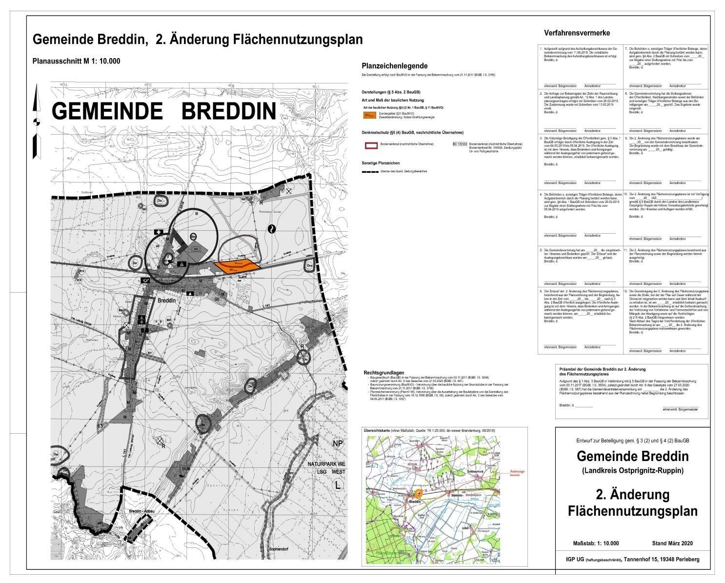 2. Änderung FNP Gemeinde Breddin