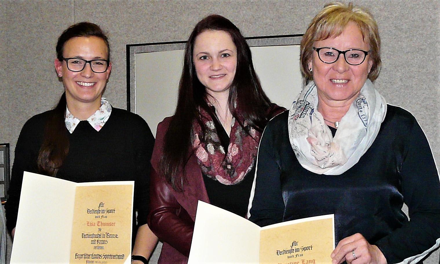 V.l.n.r.: Lisa Thumser, Isabel Bucka, Christine Lang