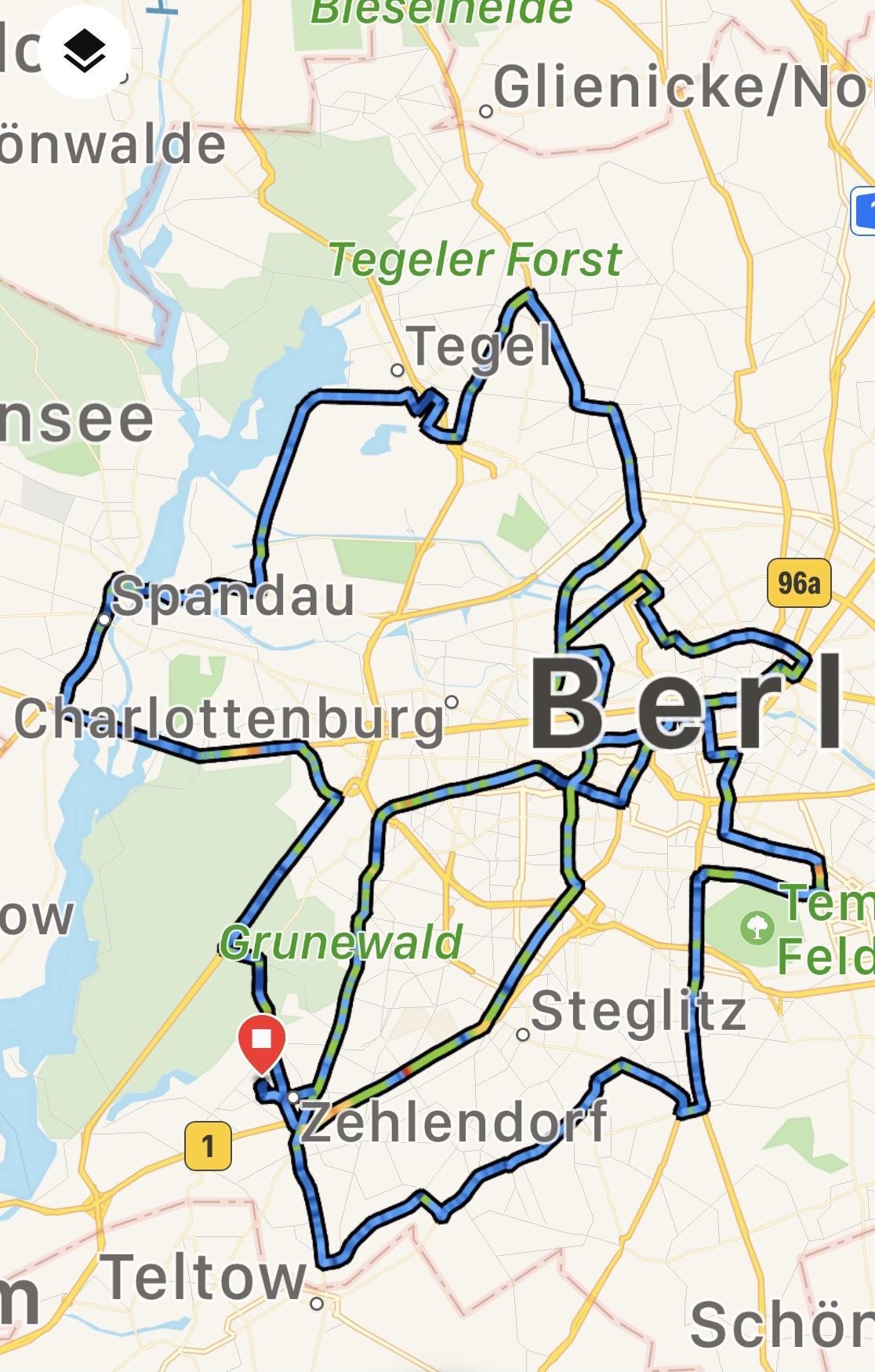 Karte der Tour 21.8.2021