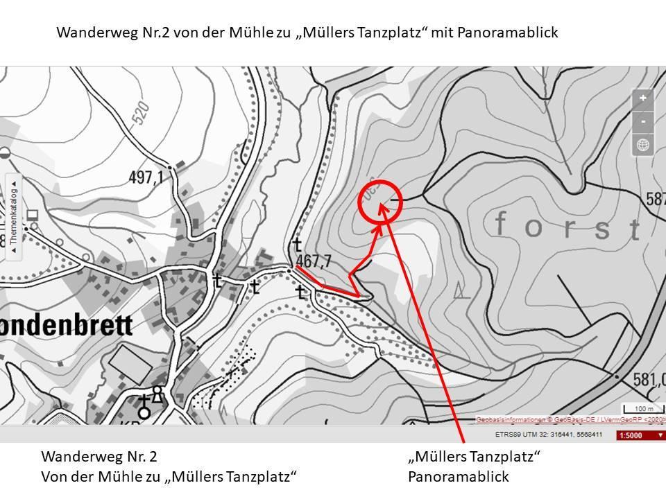 Skizze Wanderweg 2