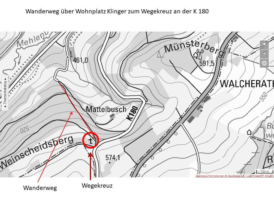Skizze Wanderweg K181