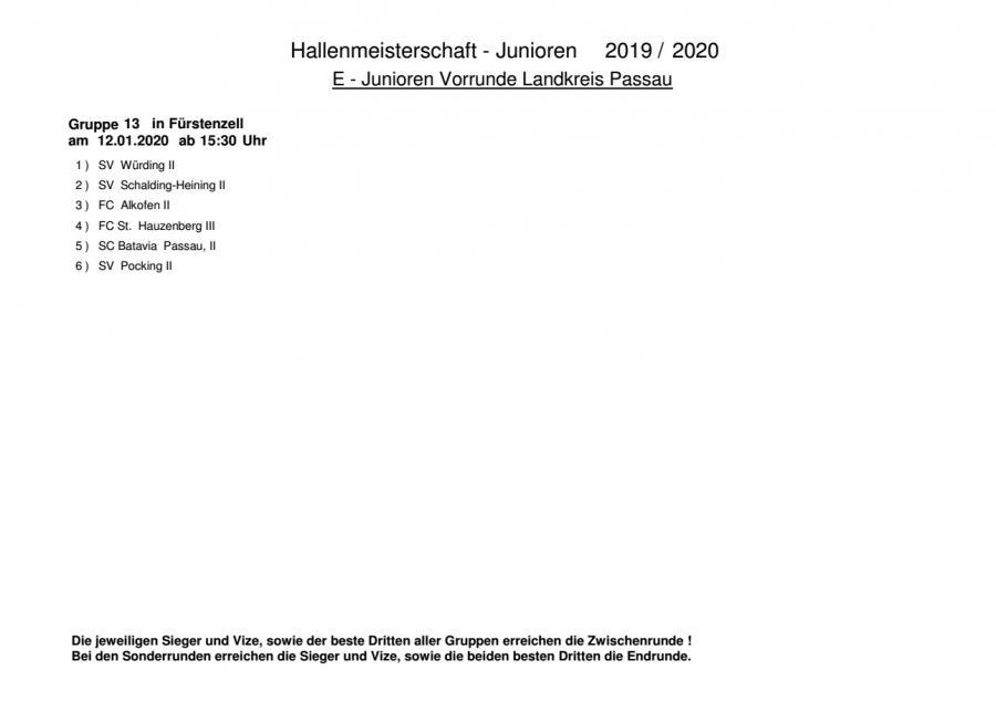 BFV Hallenmeisterschaft 2019/20 E-Junioren Blatt 2
