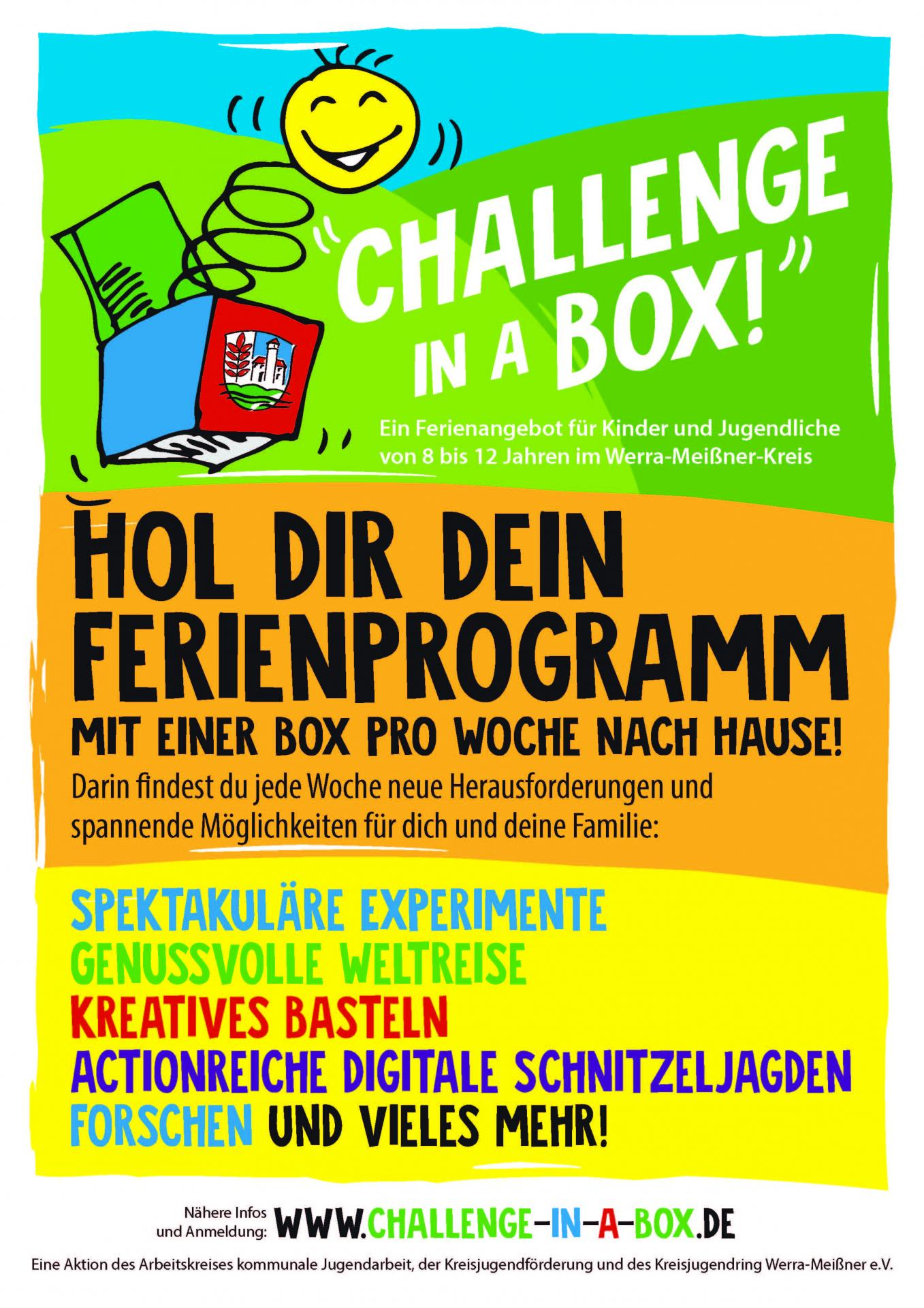 """Plakat """"Challenge in a box"""""""