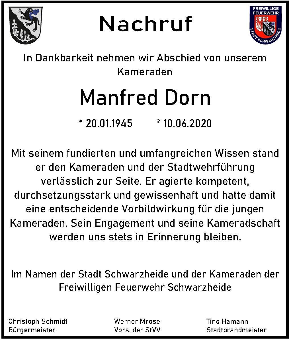 Nachruf Manfred Dorn