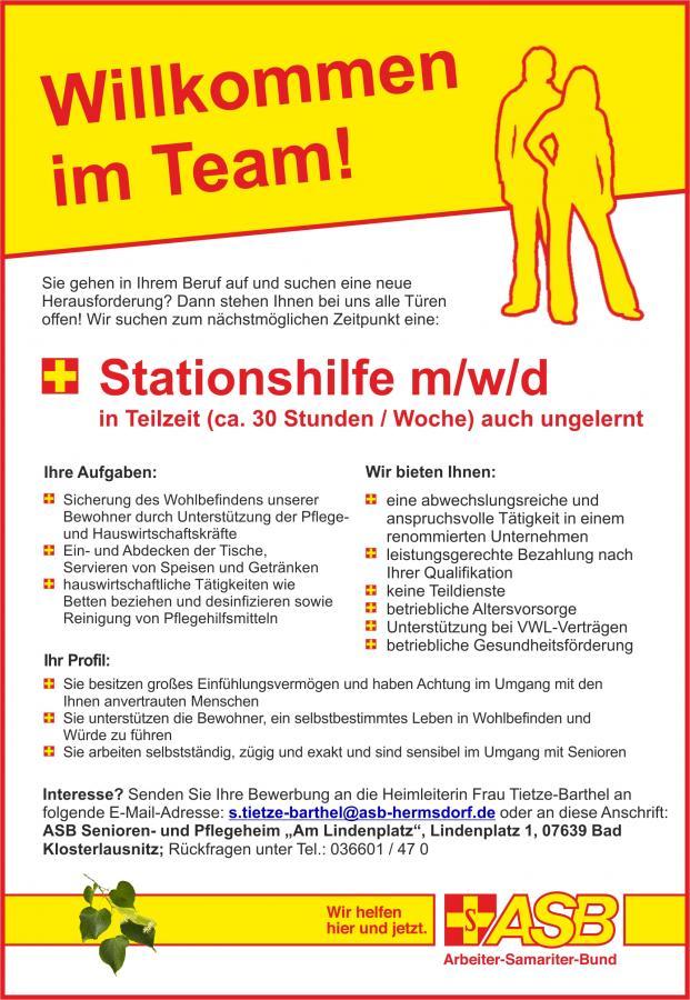 Stationshilfe im stationären Bereich