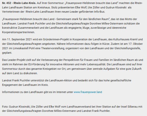 Bericht Kreisverwaltung