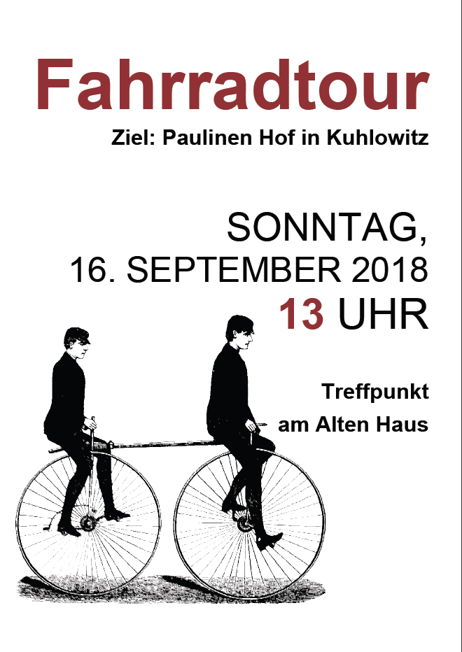 Radtour 2018