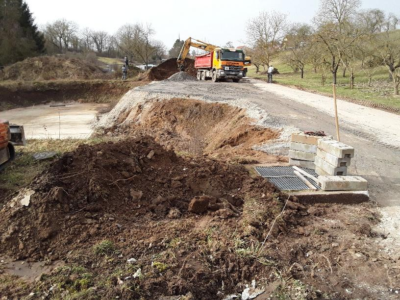 Baufeldfreimachung Betonbehälter
