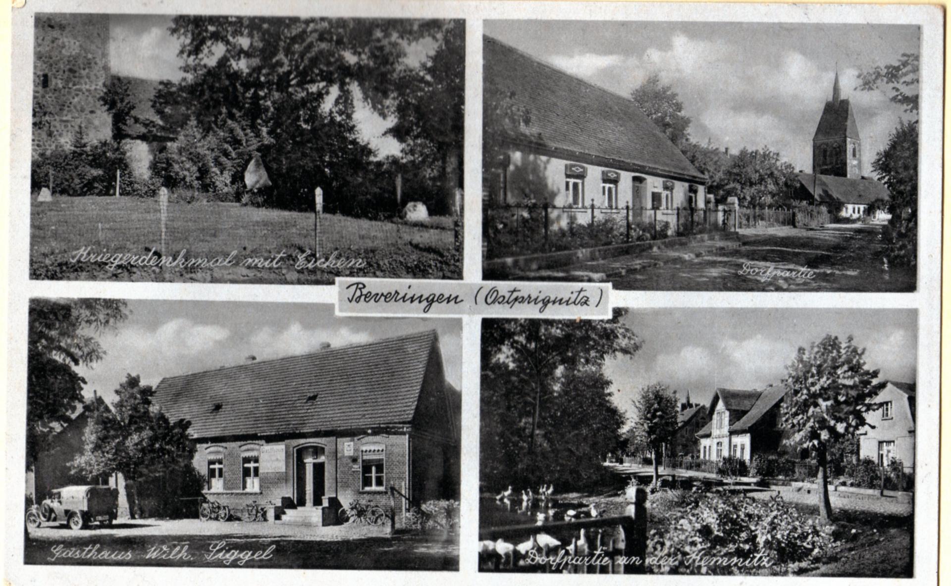 Alte Postkarten aus Beveringen