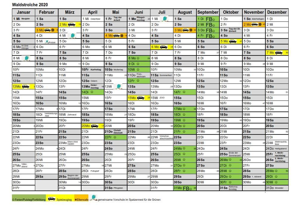 Kalender Waldstrolche 2020