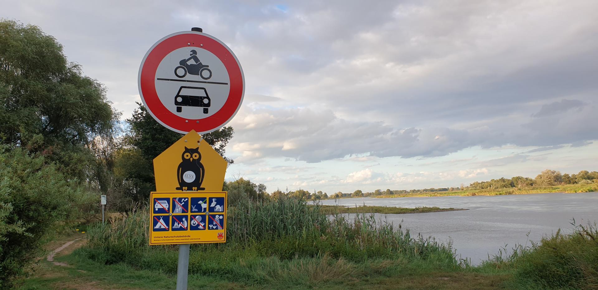 Wasserwanderer Rastplatz an der Oder Lebus