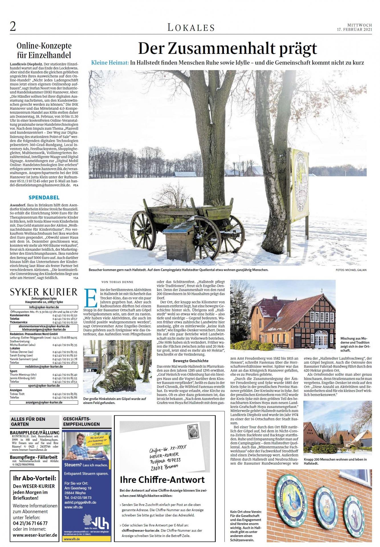 Weser-Kurier vom 17.02.2021