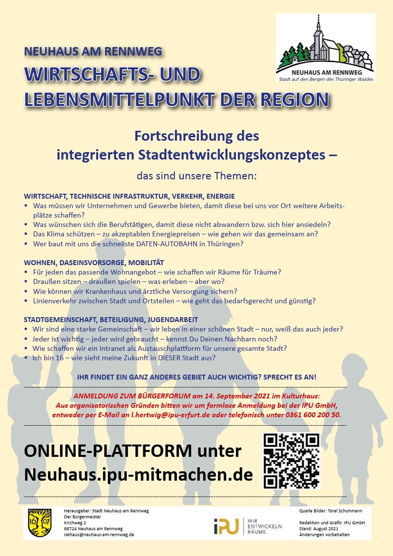 Bürgerforum 14.09.2021 Flyer Rückseite