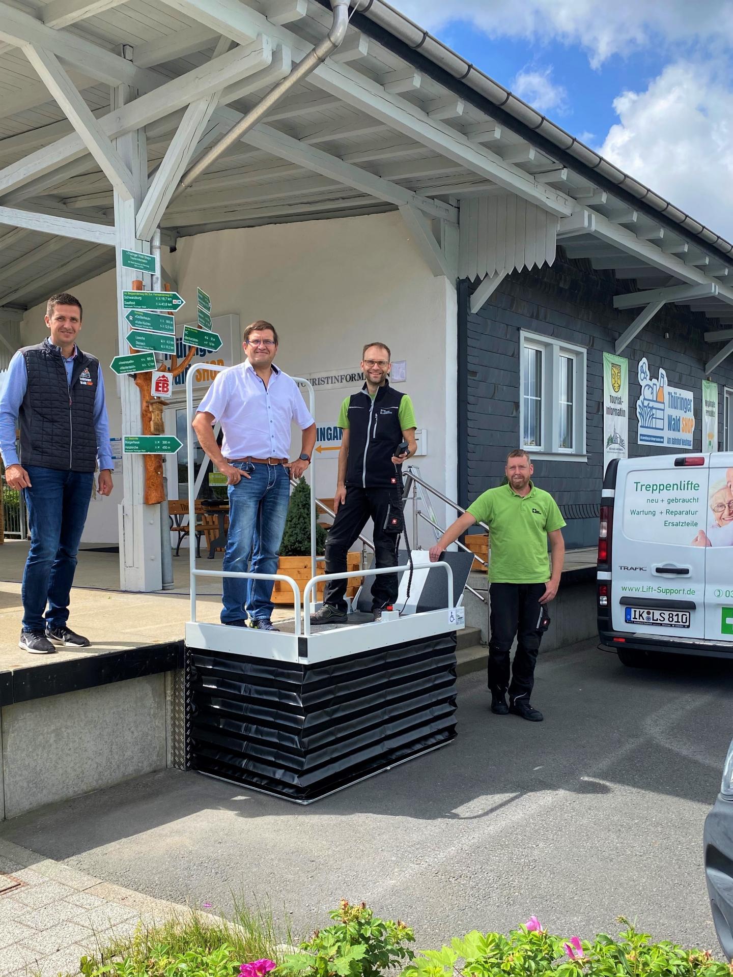 Der neue Lift am Thüringer Wald Shop geht am 16.08.2021 in Betrieb
