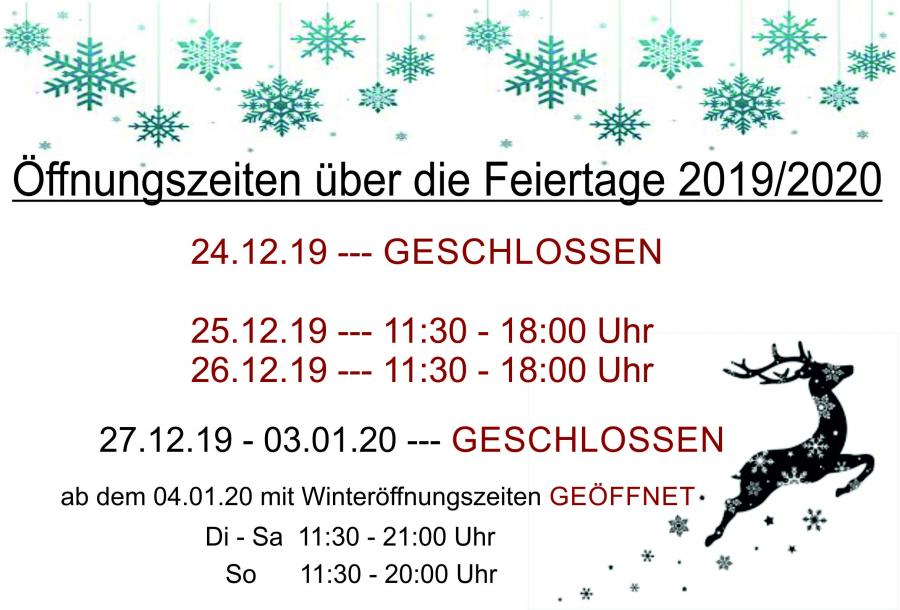 Öffnung-Weihnachten