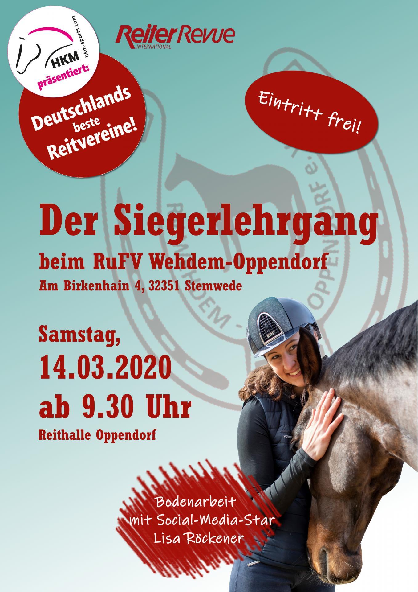 Plakat Deutschlands bester Reitverein
