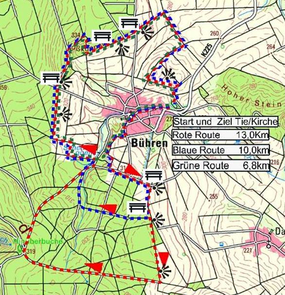 Karte 3 Touren