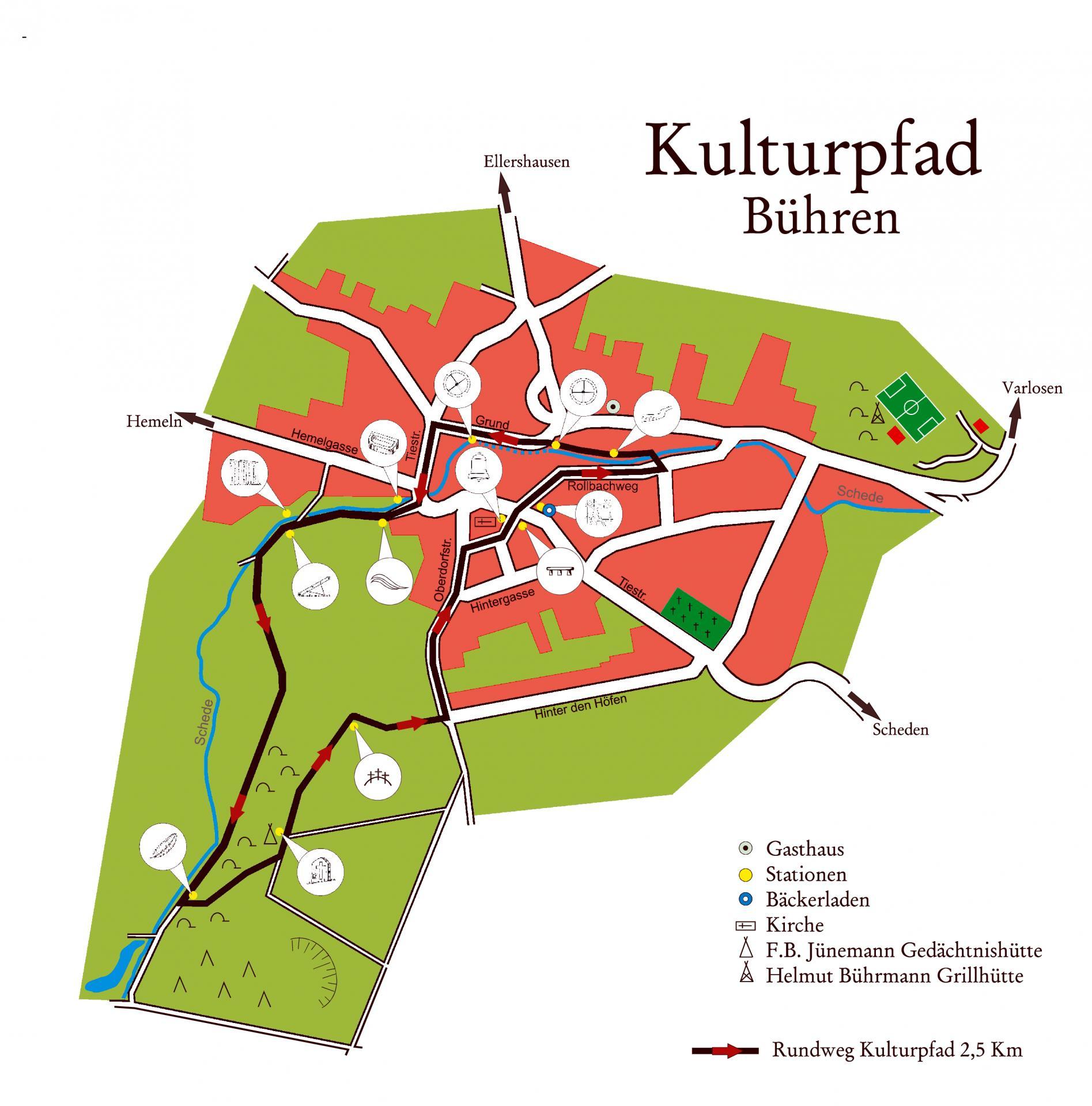 Karte Kulturpfad Bühren
