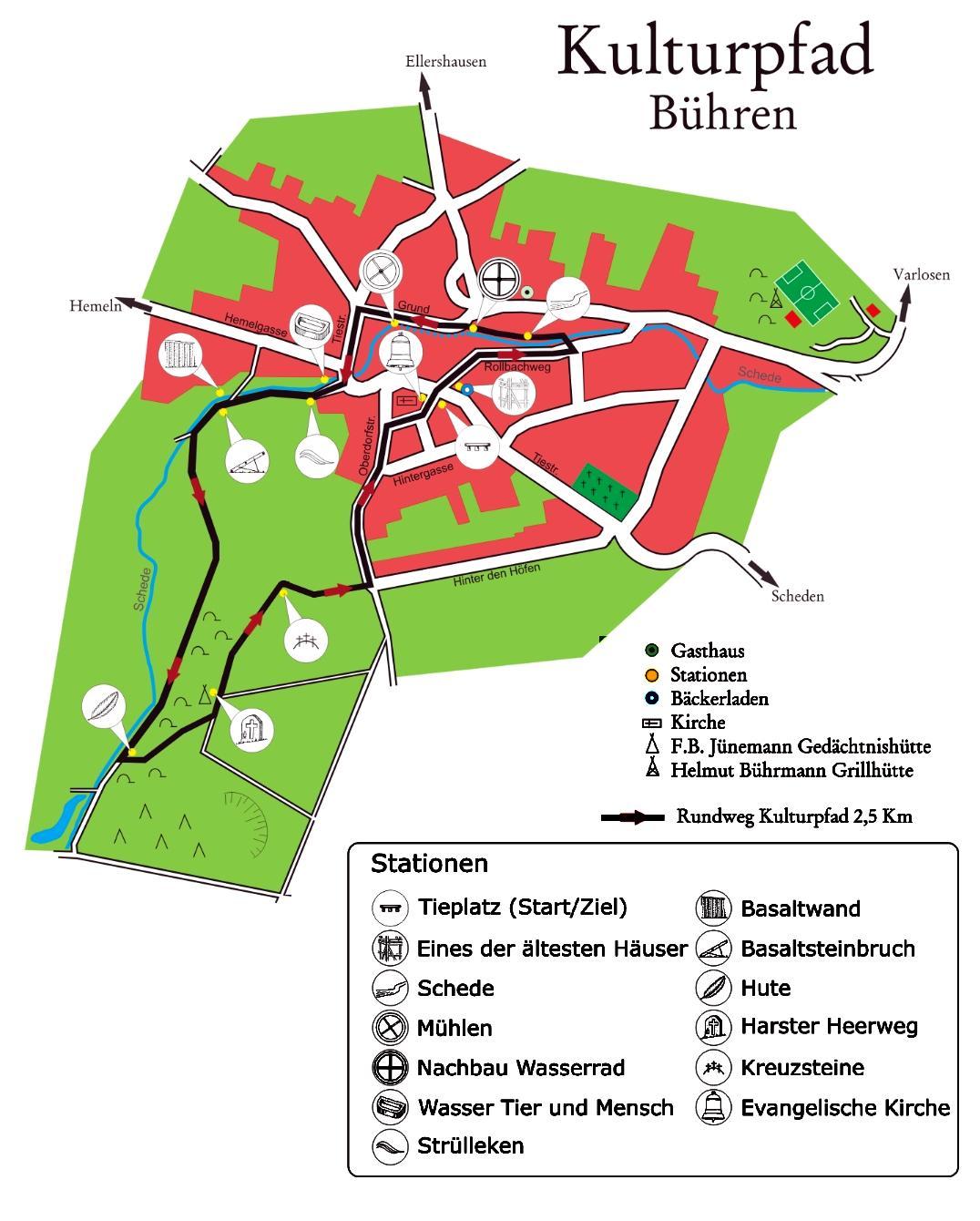 Karte Kulturpfad
