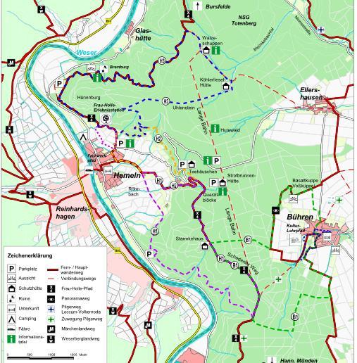 Karte Naturpark