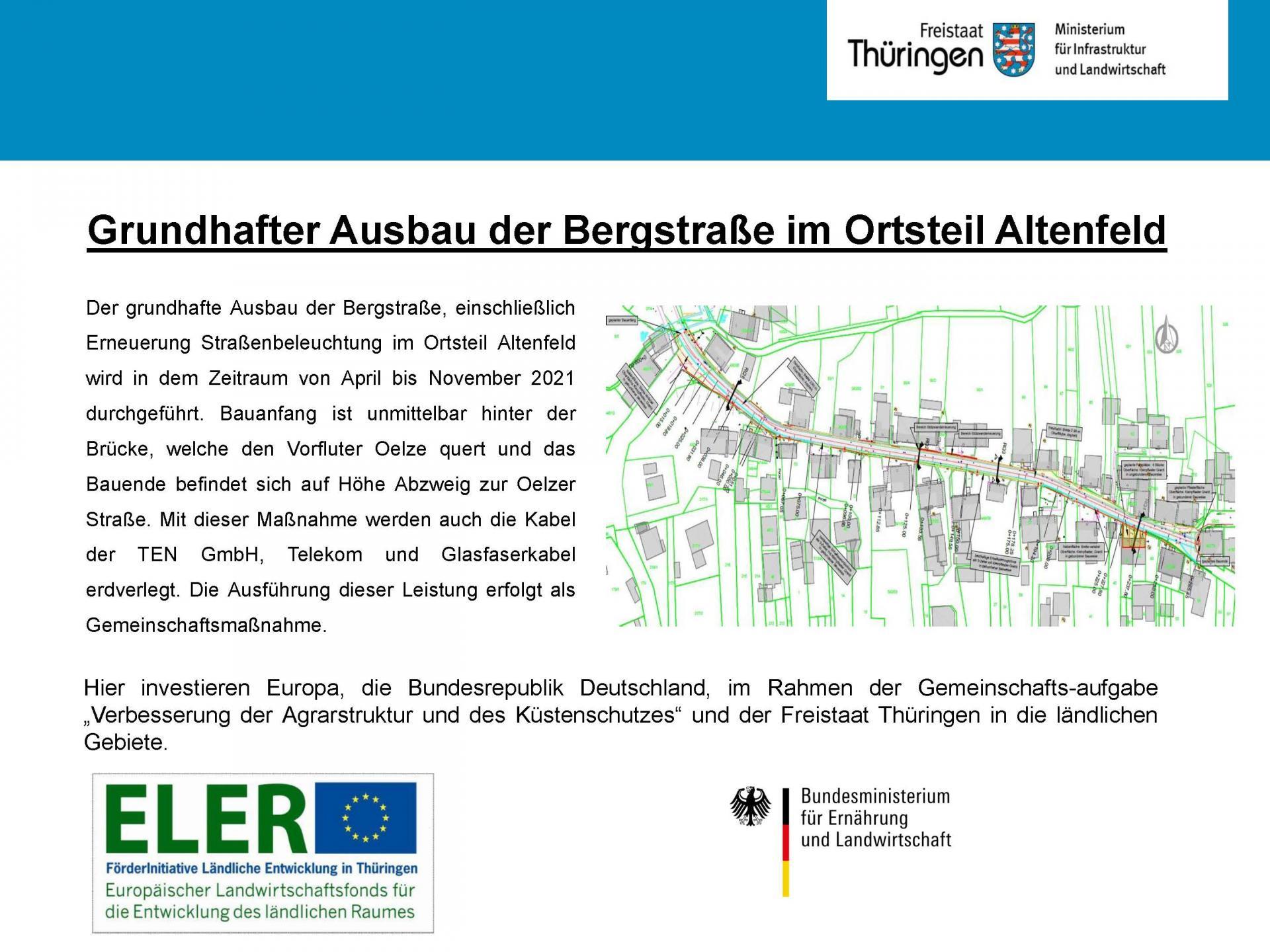 Grundhafter Ausbau der Bergstraße im Ortsteil Altenfeld