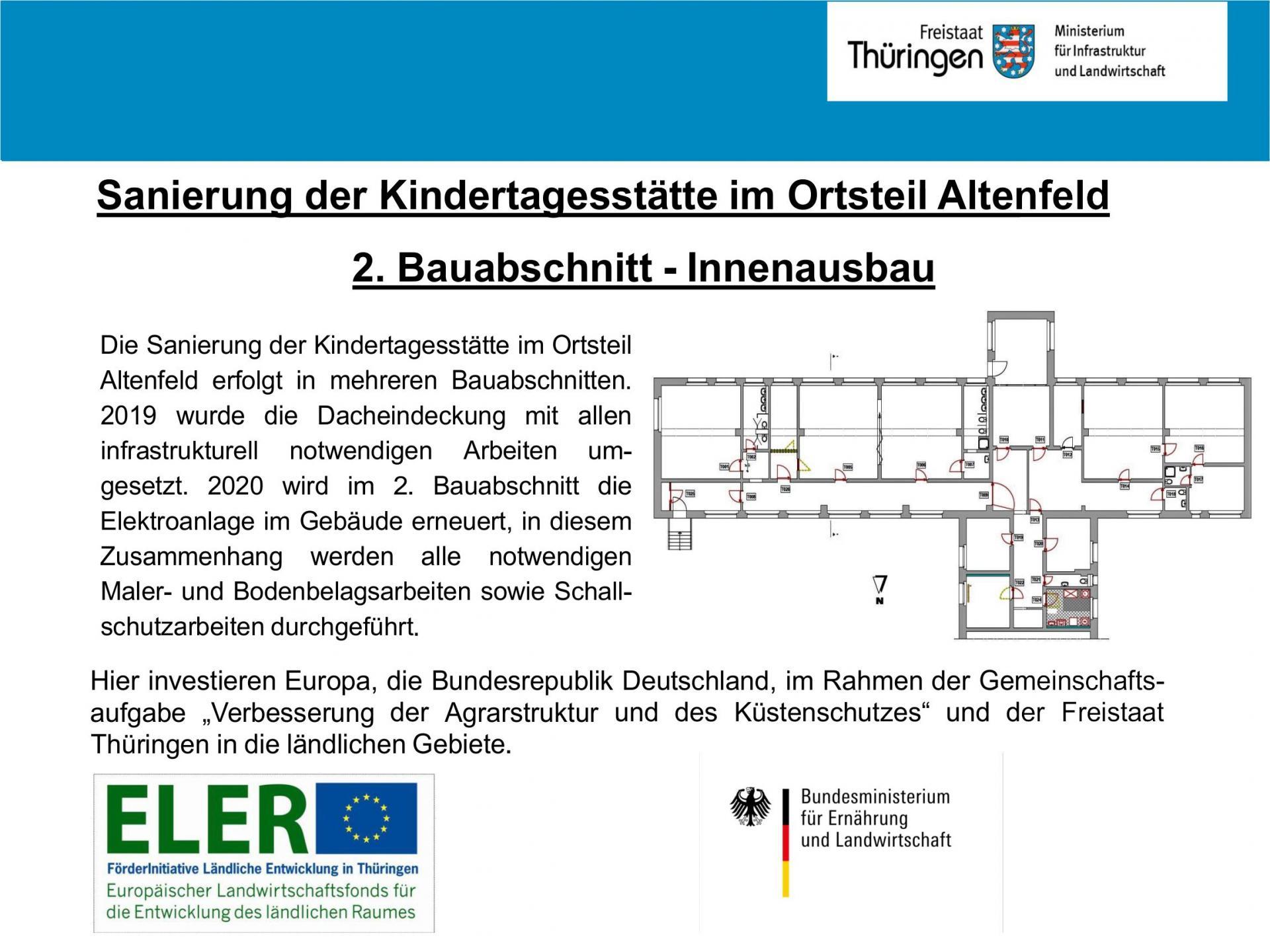 Förderung Innenausbau KITA Altenfeld