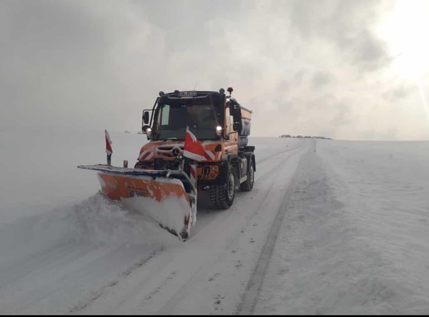 Winterdienst 2021 -heftiger Schneefall