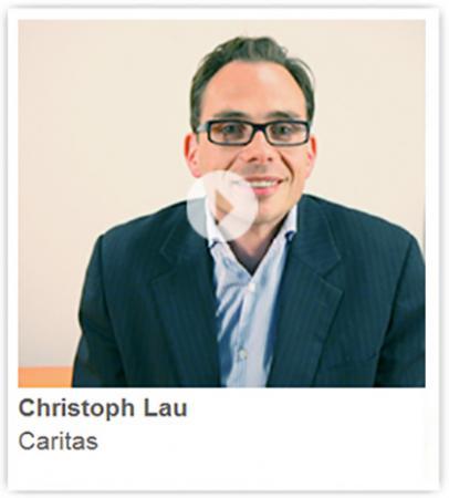 Caritas mit Rahmen Herr Lau