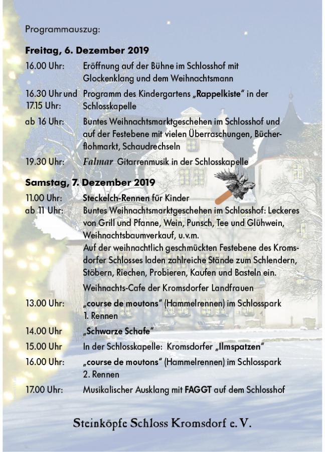 Weihnachtsmarkt 2019 Programm