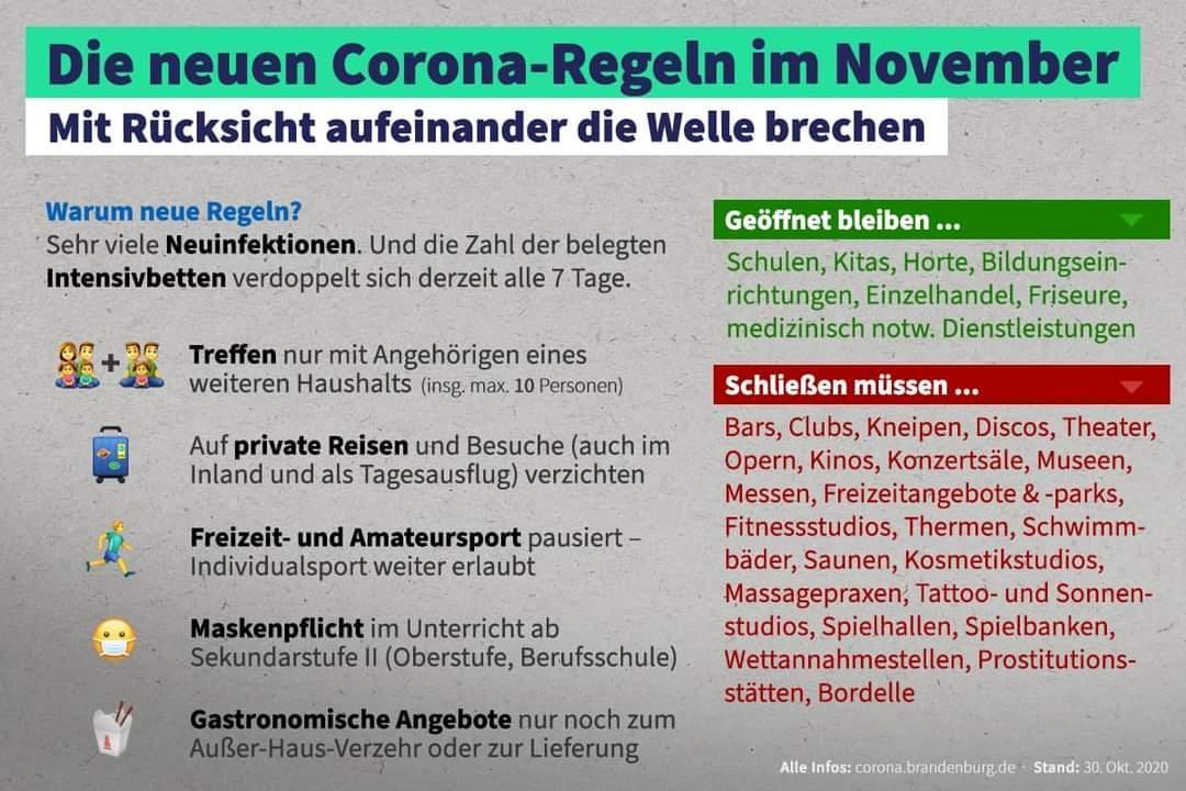 Die neuen Corona-Regeln im November