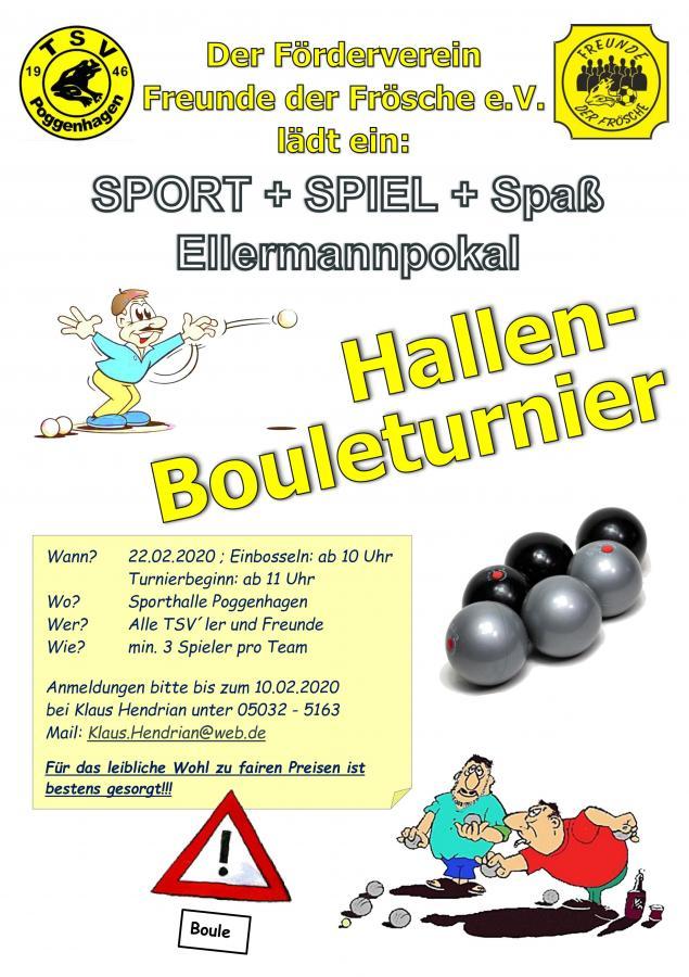 Einladung Bouleturnier 2020