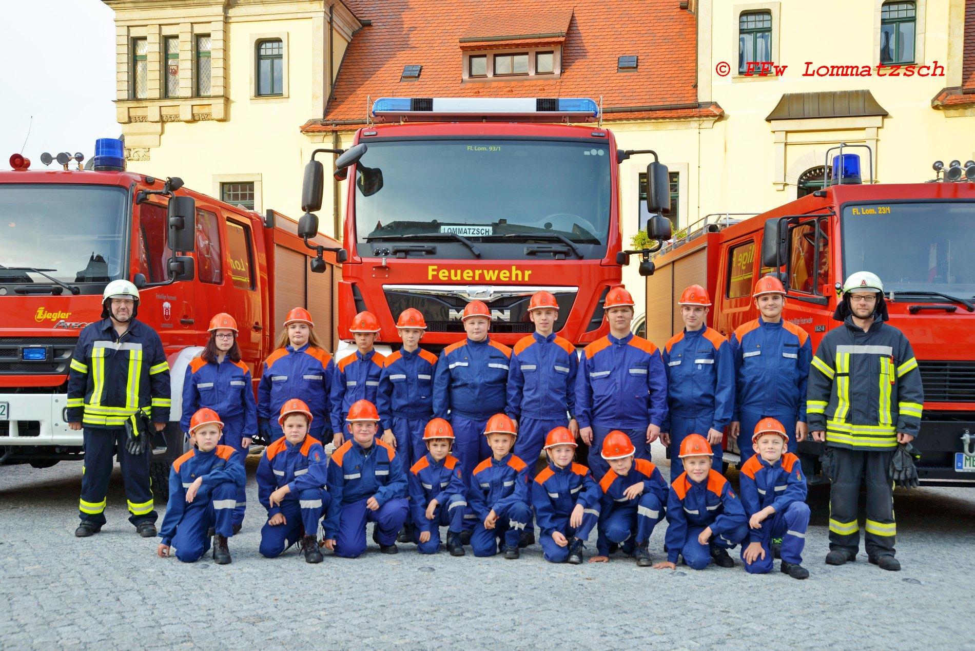 Mannschaft Kinder-/Jugendfeuerwehr Lommatzsch 2020