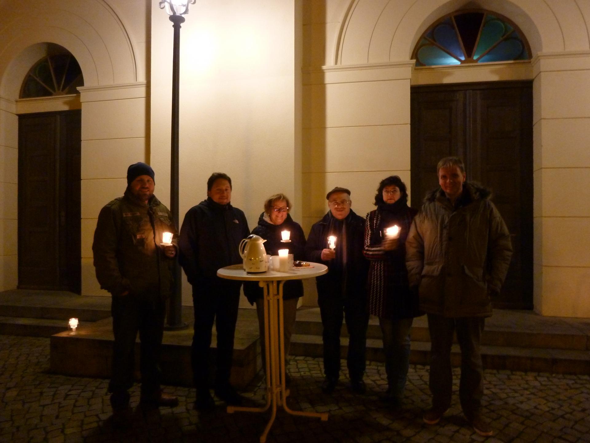 Mahnwache vor der St. Nicolaikirche am 17.1.2020