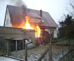 Schuppenbrand in Barksen