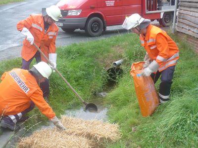01.08.2010 - Ölbeseitigung auf Gewässer