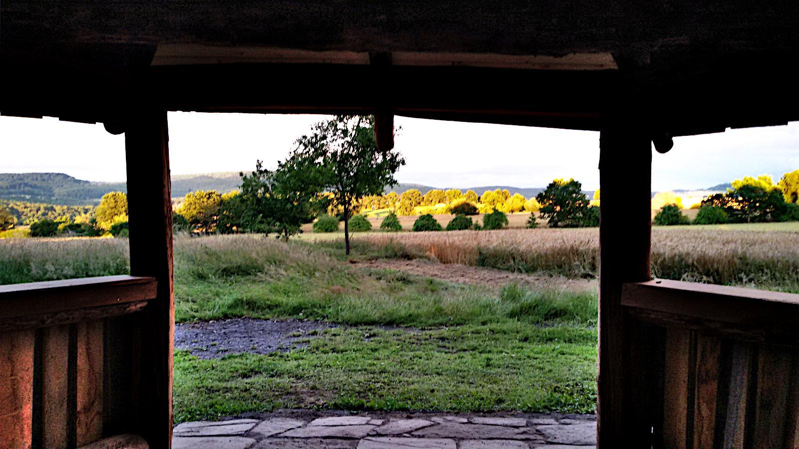 Blick aus der Hütte
