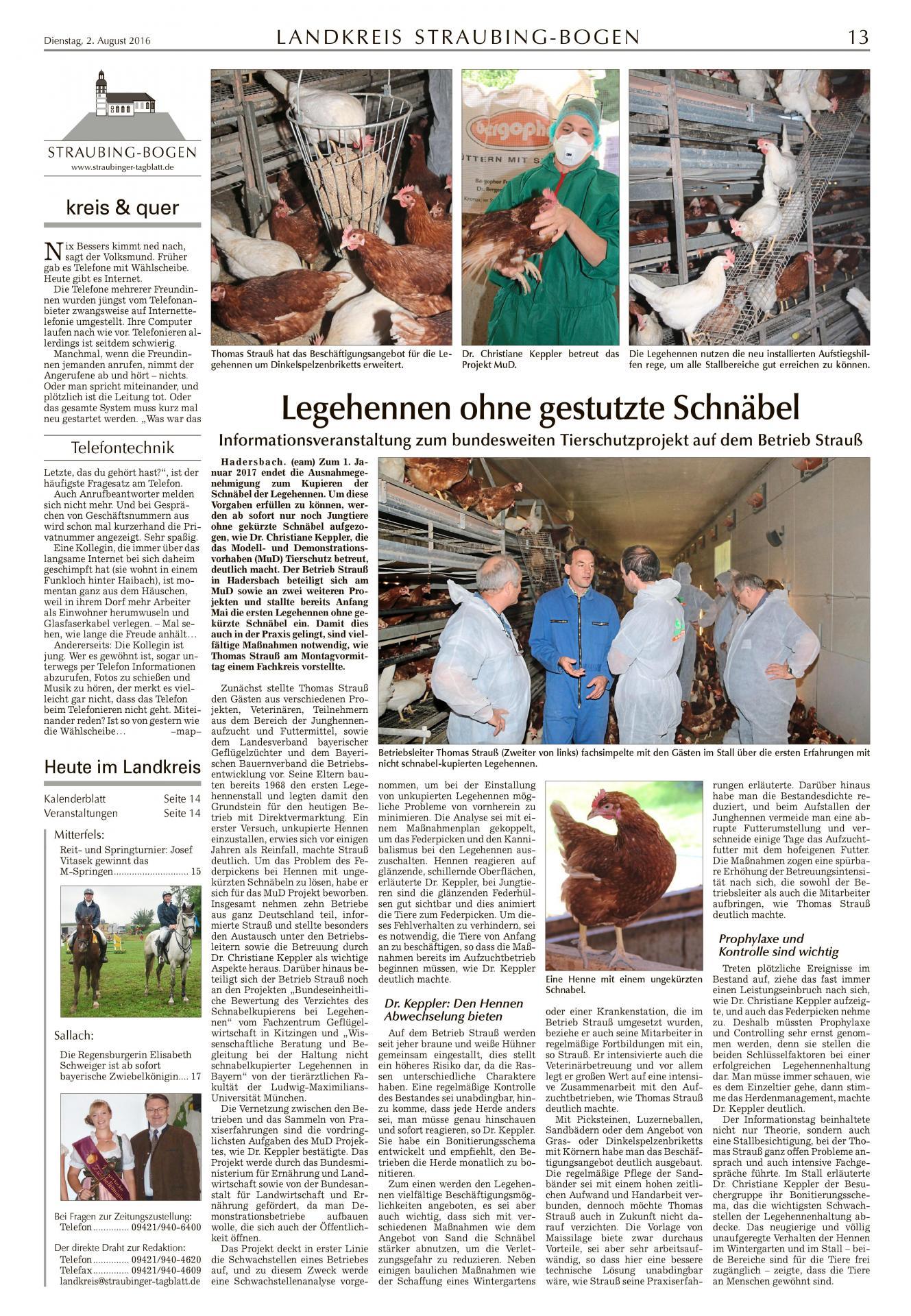 Zeitungsartikel 02.08.16