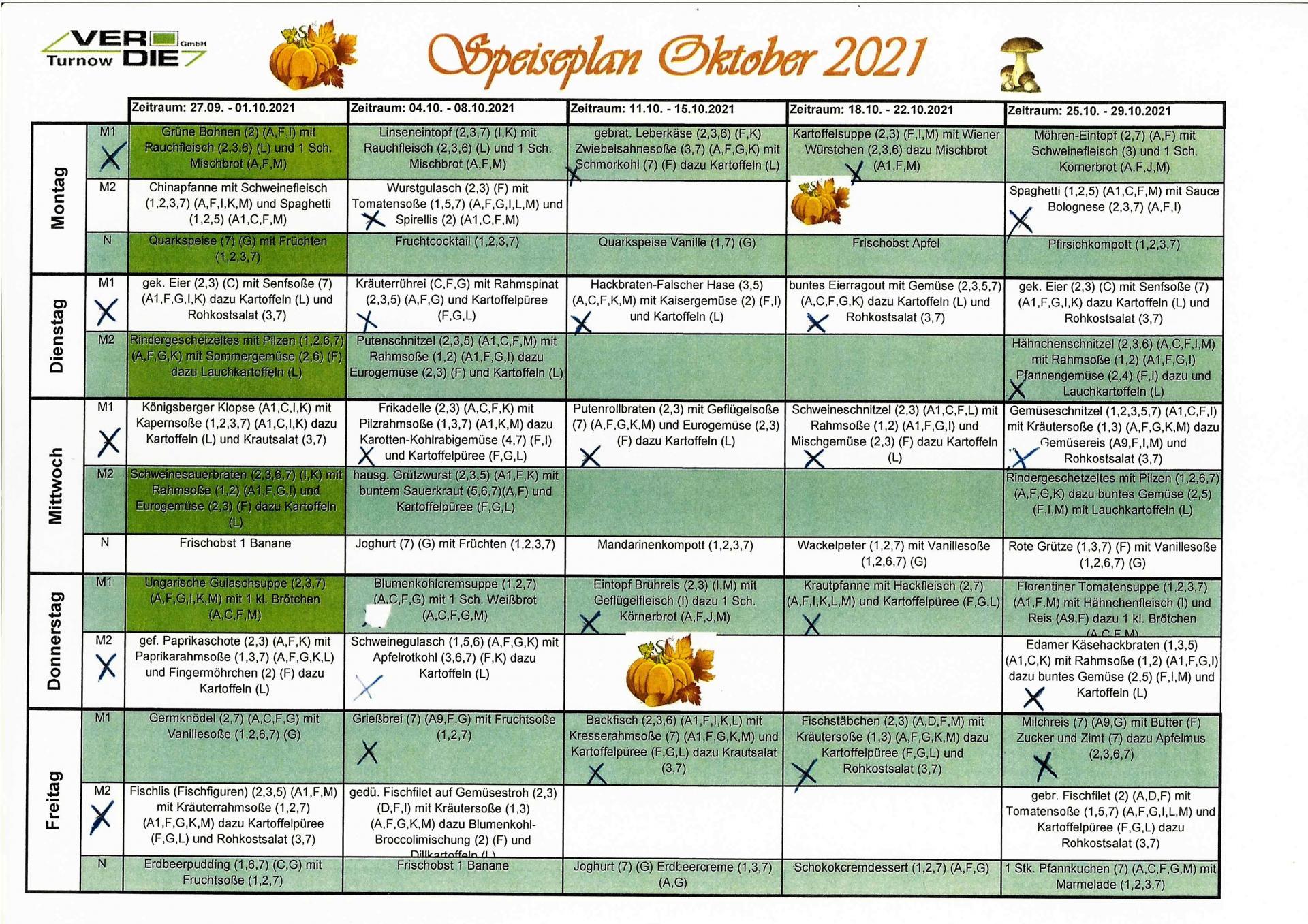 Mittag Oktober