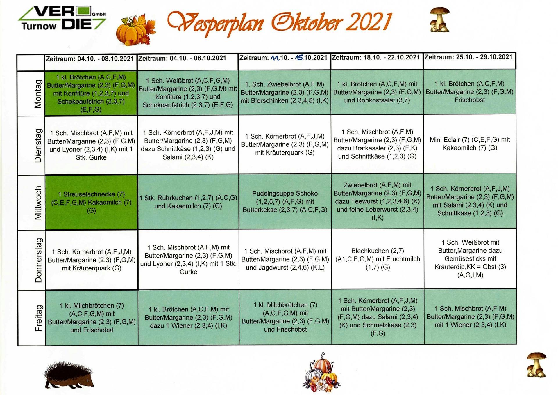 Vesper Oktober