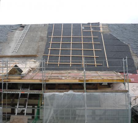 Rückbau der Schlöte und neue Dachhaut.12.02.2014