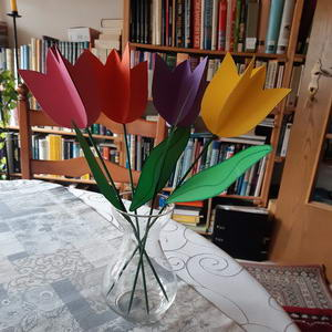 Tulpen aus Papier q