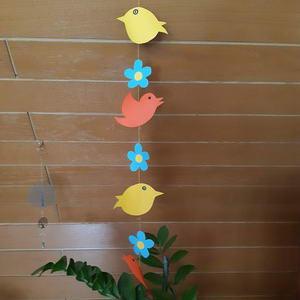 Blumen und Vögel Girlande