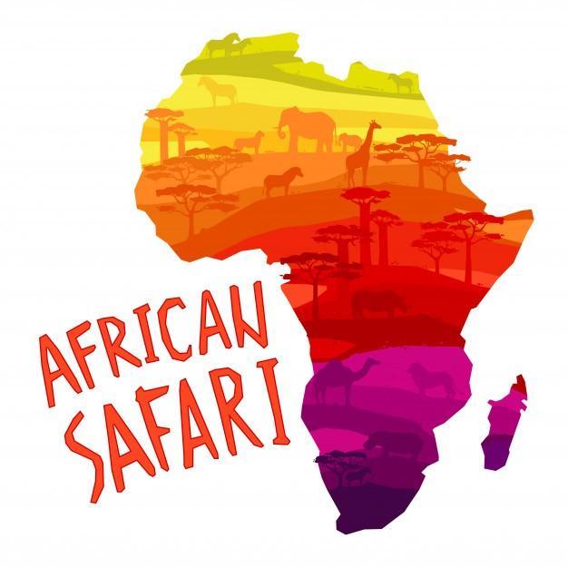 Wortgitter Tiere aus Afrika