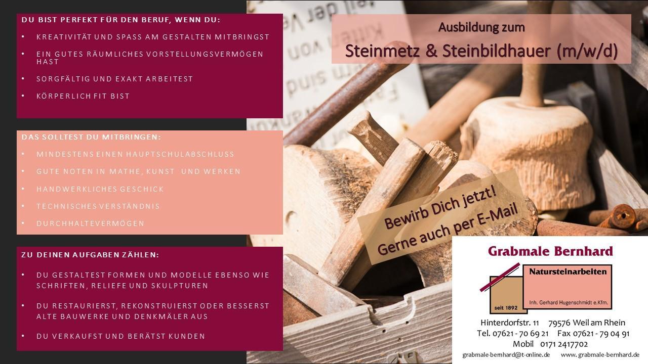 Anzeige Ausbildung zum Steinmetz