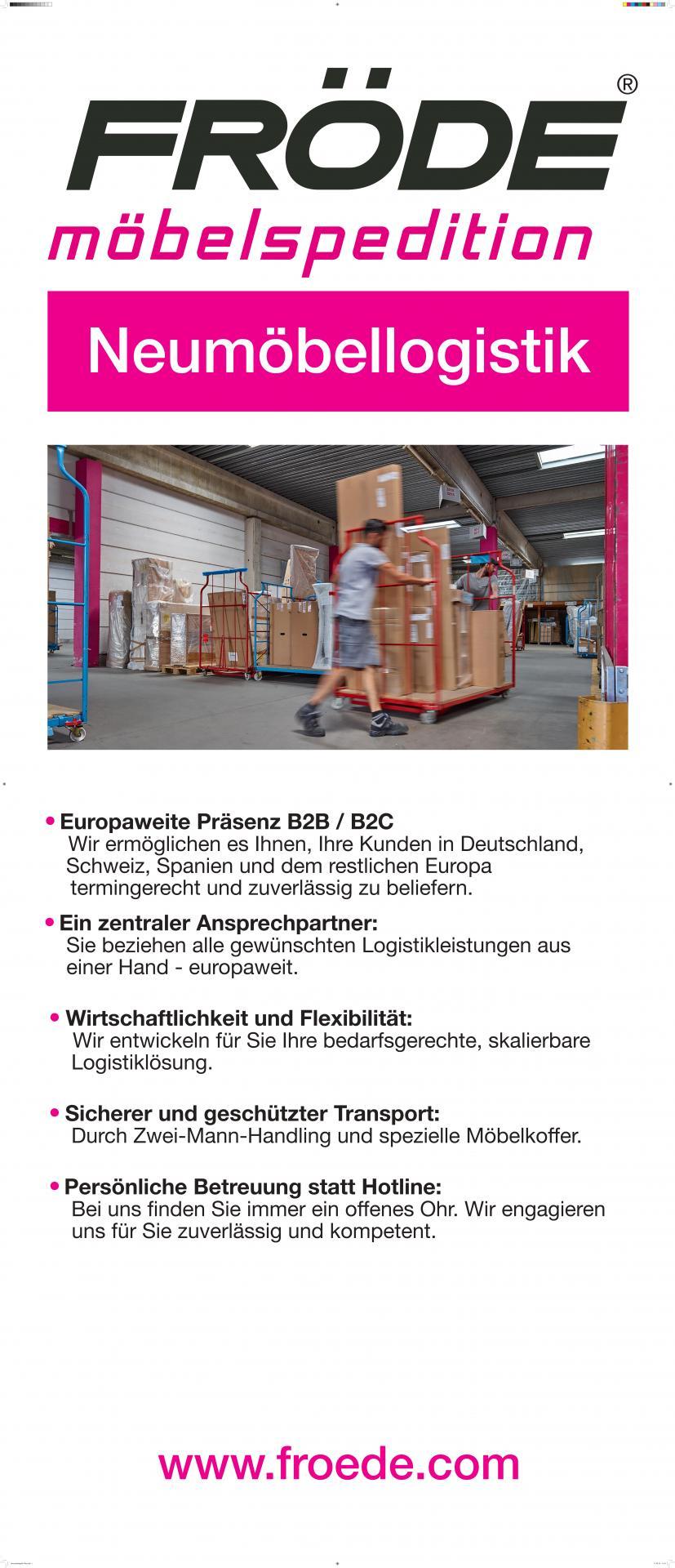 Fröde Banner Neumöbellogistik