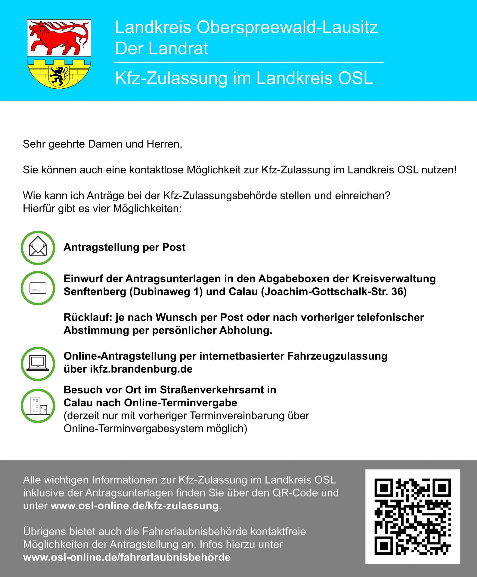 Infografik Antragstellung Kfz-Zulassung