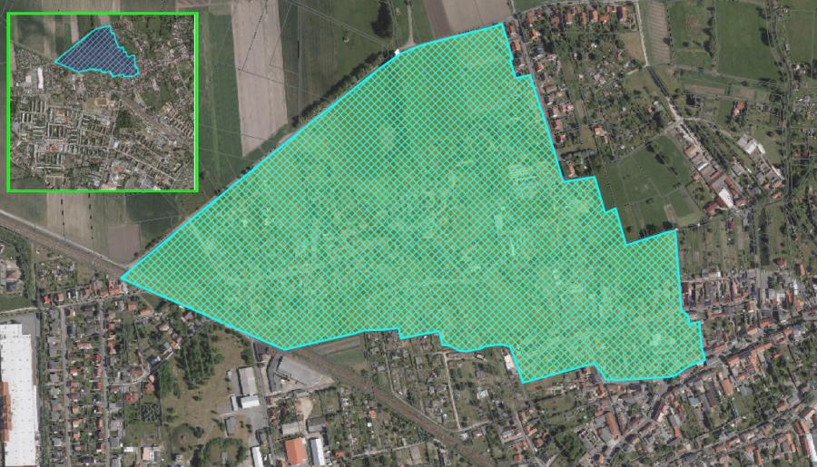 Abbildung 2: Gebiet der Nutzungseinschränkung in Lübbenau/Spreewald