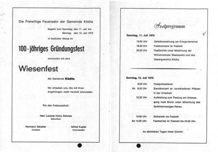 100 Jahre FF Köditz