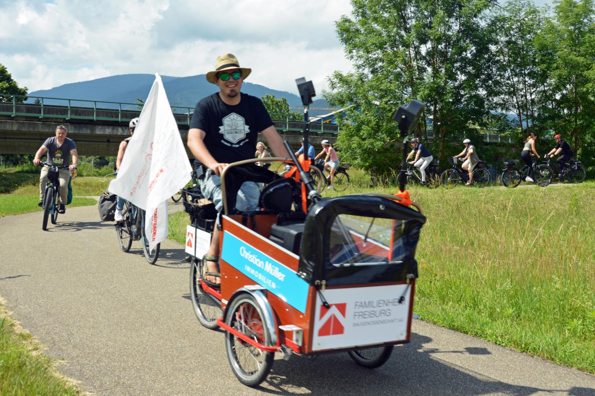Das Stegener Lastenrad in Aktion - Foto Gerd Lück